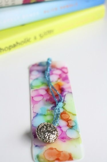 Create cool bookmarks out of plastic jugs with a tie-dye Sharpie effect.