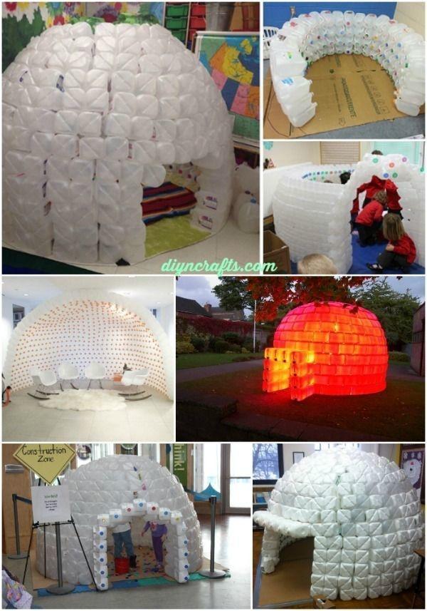 Build an epic plastic jug igloo.