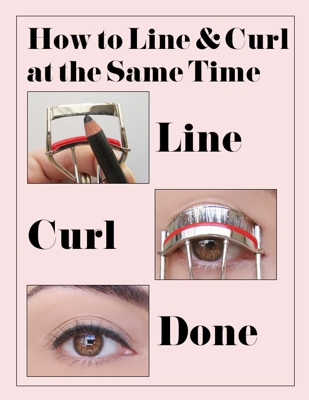 Apply your eyeliner and your mascara at the same time with this nifty trick.