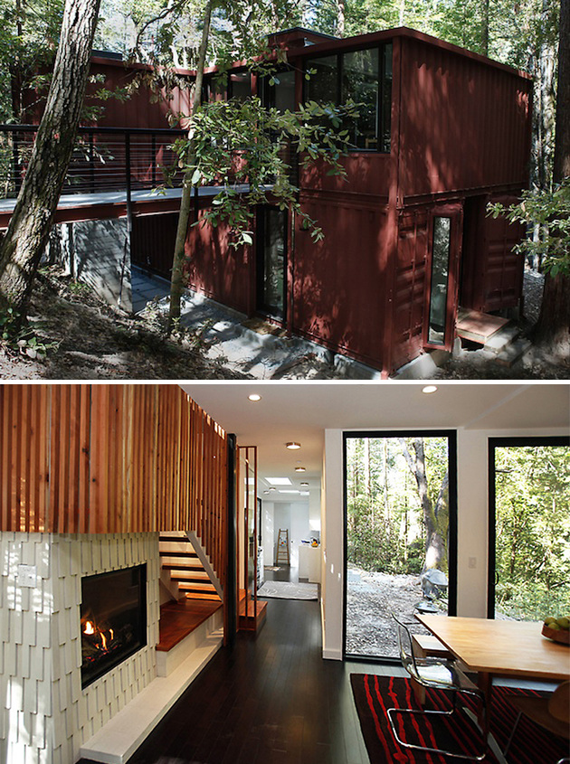 #1. Six Oaks by David Fenster of Modulus is a 1200 square foot home in the Santa Cruz mountains of California.